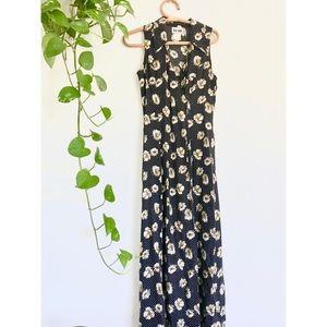 Vintage Polka Dot Sunflower Fields Dress